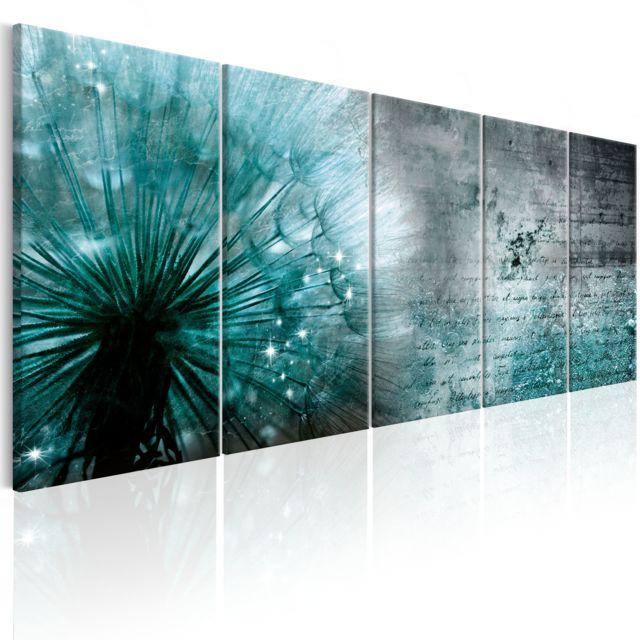 Tableau Ice Dandelion Décoration Image Art Fleurs Variées 225x90 Cm Xl Grand Format