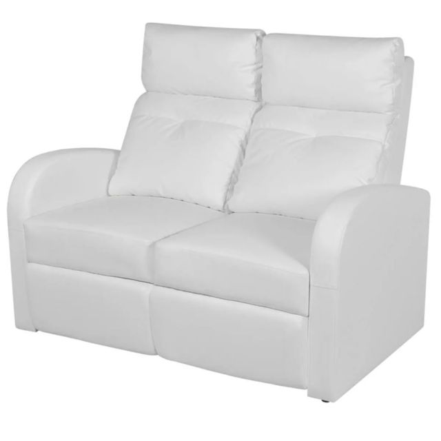 Stylé Fauteuils reference Tripoli Fauteuil inclinable à 2 places Cuir synthétique Blanc