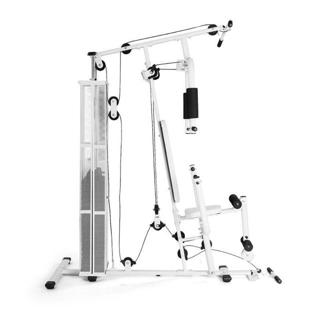 KLARFIT - Ultimate Gym 3000 Station de Fitness multifonctions -blanche