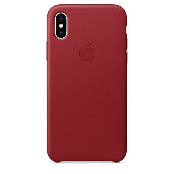 APPLE iPhone X Leather Case - PRODUCT, RED