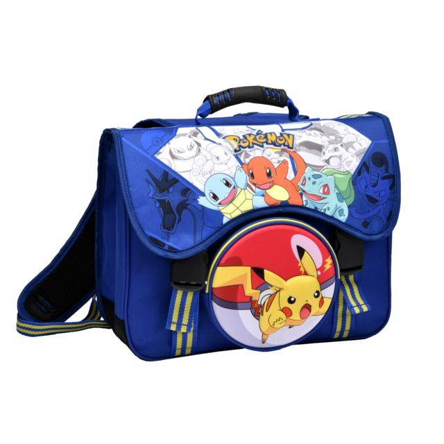 Pokemon TROUSSE 2 COMPARTIMENTS POKEMON (Bleu) - Scolaire chez ...