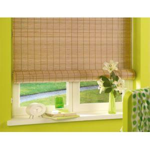 store roll 39 up pvc int rieur et ext rieur imitation bois tiss coloris chene clair pas cher. Black Bedroom Furniture Sets. Home Design Ideas