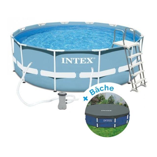 intex pack piscine tubulaire prism frame 3 66 x 1 22 m. Black Bedroom Furniture Sets. Home Design Ideas