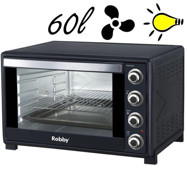 ROBBY four multifonction chaleur tournante 60l 2200w noir - oven 60l