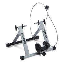KLARFIT - Tourek Vélo Rouleau Home trainer 26/28 pouces 100kg acier - argent