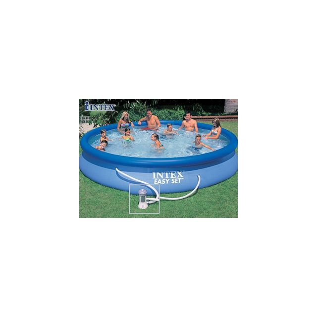 intex pool zen spa kit piscine hors sol autoportante easy set ronde 457 x 84cm avec. Black Bedroom Furniture Sets. Home Design Ideas
