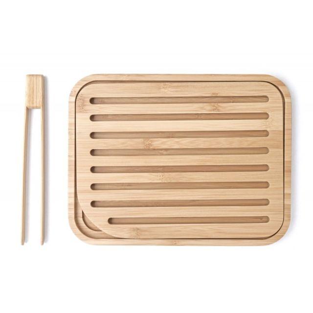Pebbly Planche à pain de table en bambou