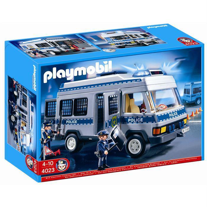 4023 Fourgon Equipé Et Policiers