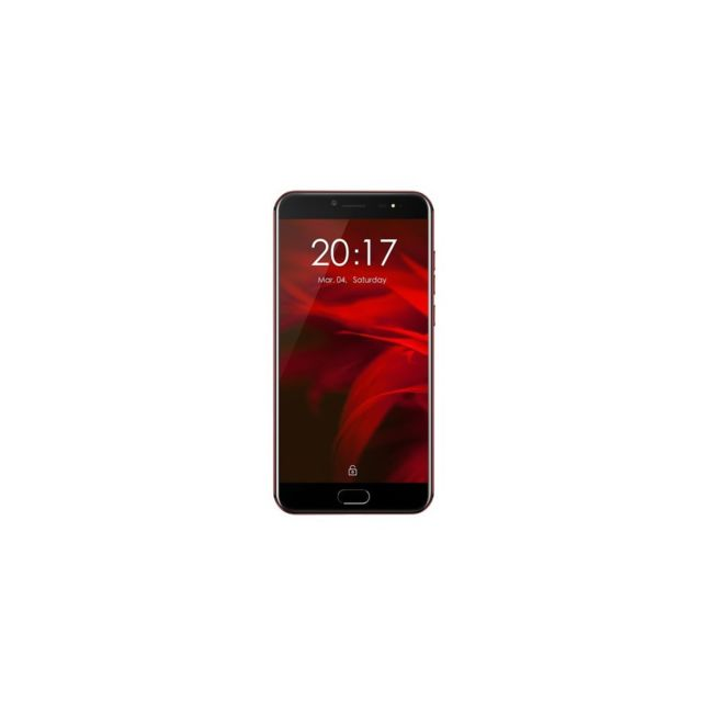 Auto-hightech Smartphone 4G 5.5 pouces, Android 7.1, deca-core - Rouge
