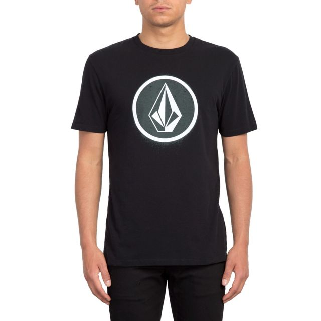 Volcom - T-shirt Spray Stone Noir Homme -