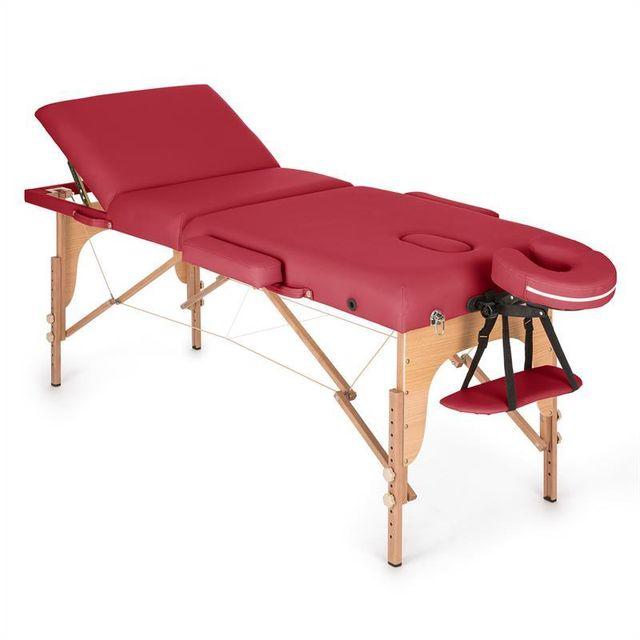klarfit mt 500 table de massage pliante 210 cm 200 kg mousse fine rouge pas cher achat. Black Bedroom Furniture Sets. Home Design Ideas
