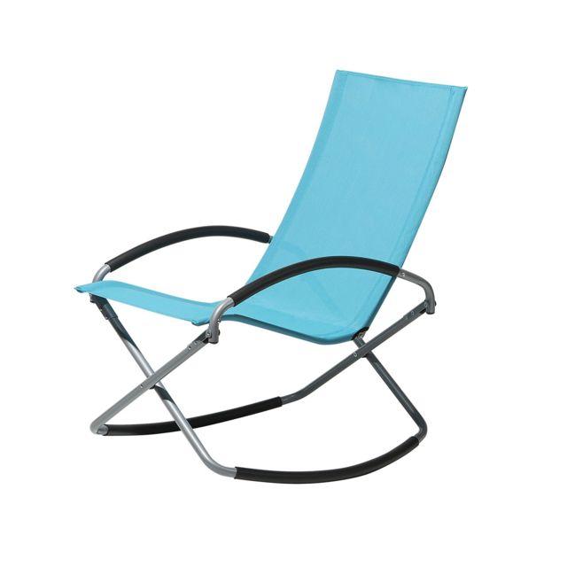 Chaise de jardin pliable bleue CASTO