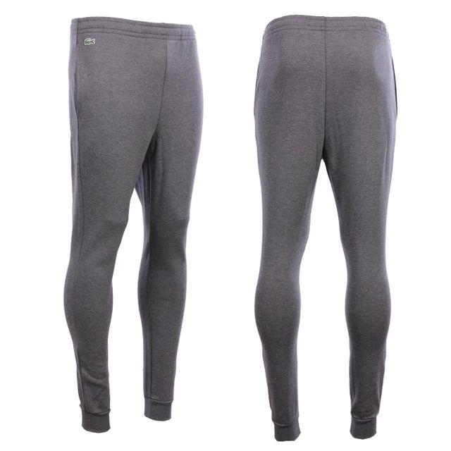 ed6376fd459 Lacoste - Homme - Bas de Jogging gris en molleton Xh8946 - pas cher Achat   Vente  Survêtement homme - RueDuCommerce
