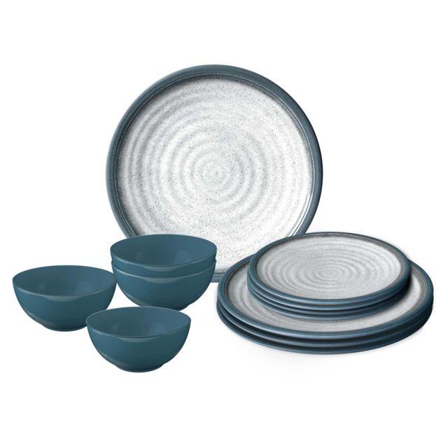 Autres Pack Vaisselle Mélamine Tuscany 12 Pièces Pas Cher Achat