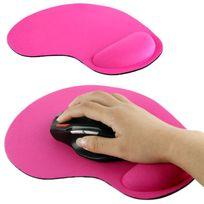 Yonis - Tapis de souris repose poignet de qualité ergonomique ultra fin rose