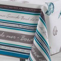 Le Jardin Des Cigales - Cdaffaires Nappe rectangle 150 x 240 cm polyester imprime seaside Turquoise