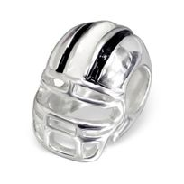 Sochicbijoux - So Chic Bijoux © Charm Perle Casque Football Américain Argent 925 - Compatible with Pandora, Trollbeads, Chamilia, Biagi