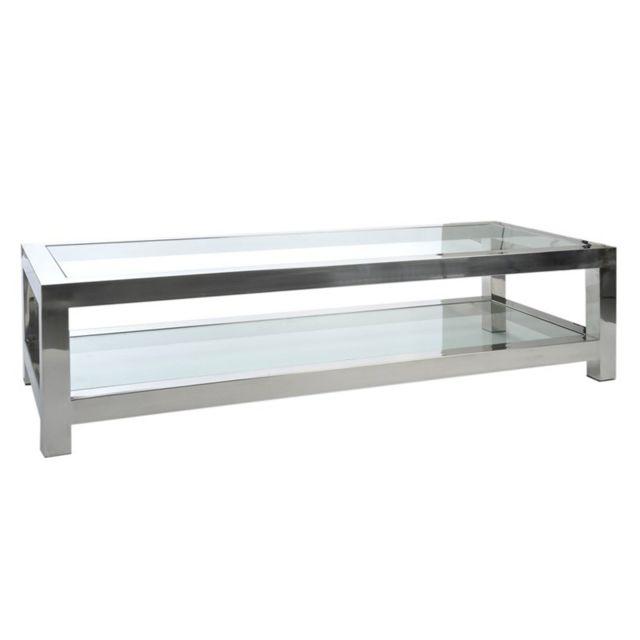 Tousmesmeubles Table basse métal - Gloss