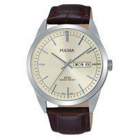 Pulsar - Montre Homme modèle Tradition Beige et Marron - Pj6069X1 - cadeau idéal
