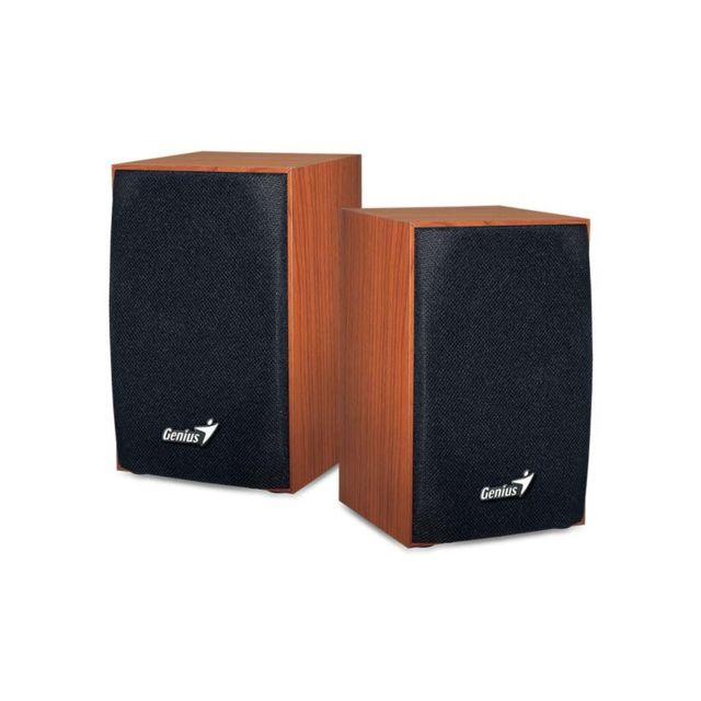 GENIUS SP-HF 160 Les haut-parleurs SP-HF 160 2.0 alimentés via USB dournissent une excellente qualité sonore avec ses 2x2 watts. Ils peuvent se brancher sur PC, MAC, tablettes, smartphones MP3 ou lecteurs CD/DVD