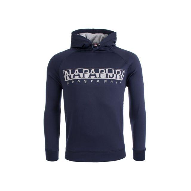 f3be872dc3e Napapijri - Sweat Capuche Tanaina Blue Marine Bleu Nuit - pas cher ...