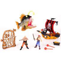 Chap Mei - Set Pirates : Bateau de pirates figurines et gros poisson