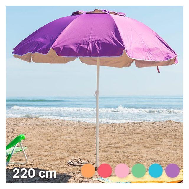 marque generique parasol rond de plage 220 cm couleur rose pas cher achat vente. Black Bedroom Furniture Sets. Home Design Ideas