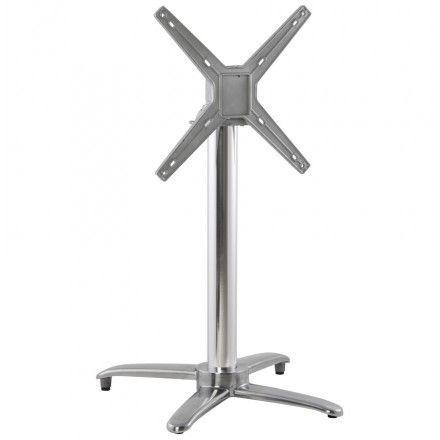 TECHNEB Pied de table JANE forme croix en aluminium 62cmX62cmX74cm