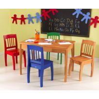 Kidkraft - Table Euro et ses quatre chaises - Miel
