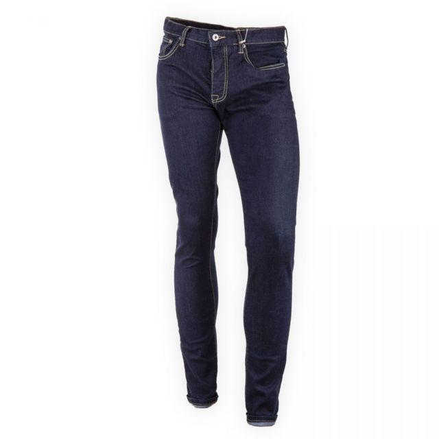 c5742fa5f136e Crossby - Jean bleu brut stretch homme Bleu Fonce - 46 - pas cher Achat    Vente Jeans homme - RueDuCommerce