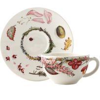 Coffret 2 tasses et soucoupes à thé-Bouquet Floral par