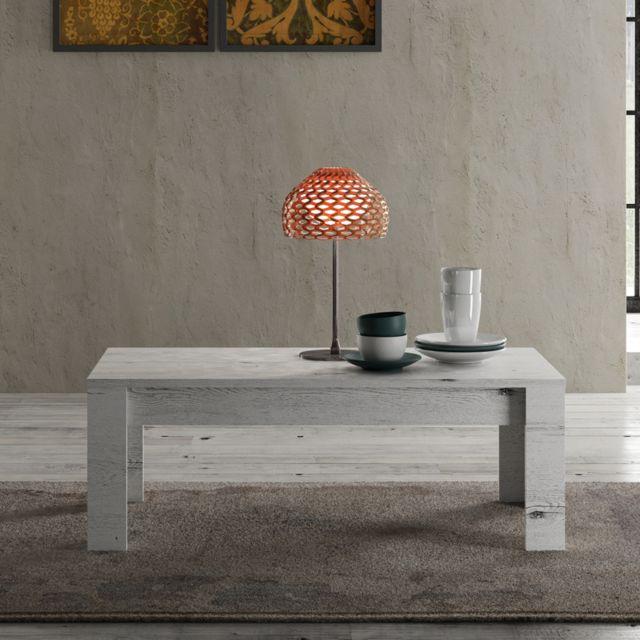 Tousmesmeubles Table basse Chêne blanchi - Verone
