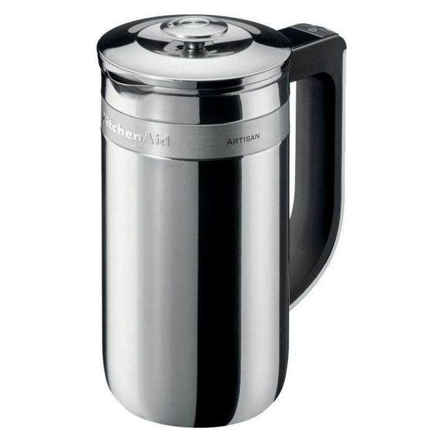 KITCHENAID cafetière à piston 6 tasses 0.74l inox - 5kcm0512ess