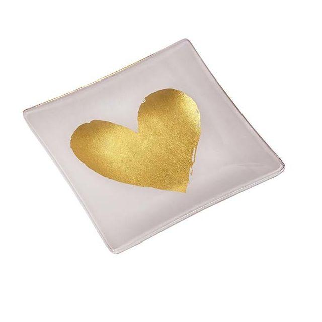 Nouvelles Images Vide poche en verre Cœur