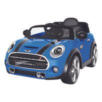 Happy Garden - Voiture électrique Mini Cooper - bleu