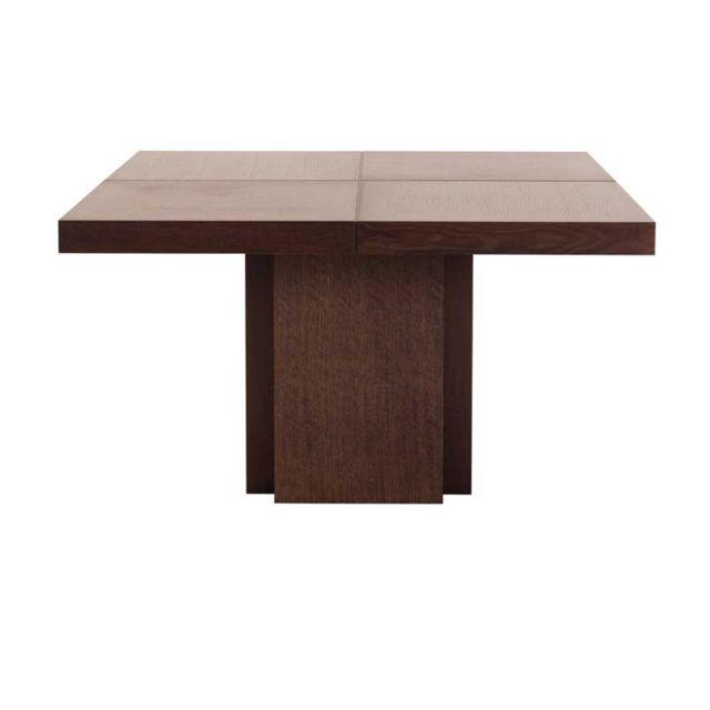 Tousmesmeubles Table de repas carrée Marron - Bellesa