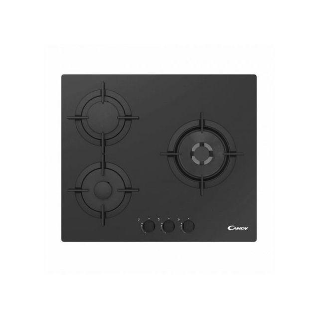 Candy Plaque au gaz Cvg 63 Swpn 60 cm Noir 3 cuisinière