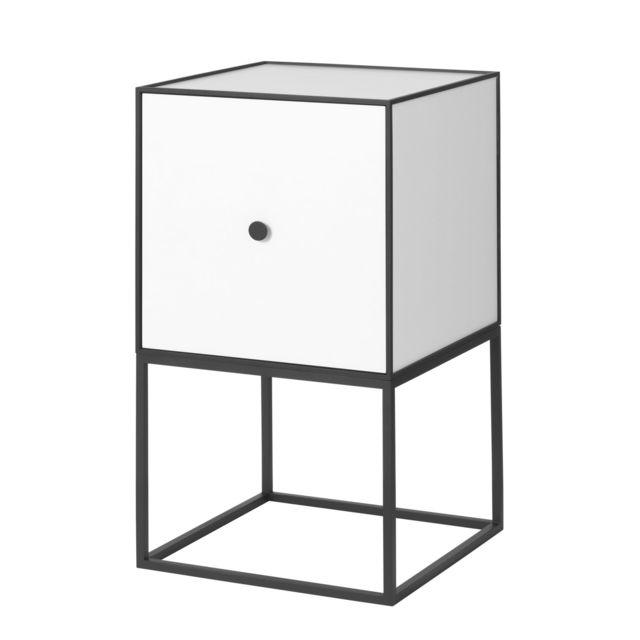 By Lassen Table d'appoint Frame 35 avec portes - gris clair