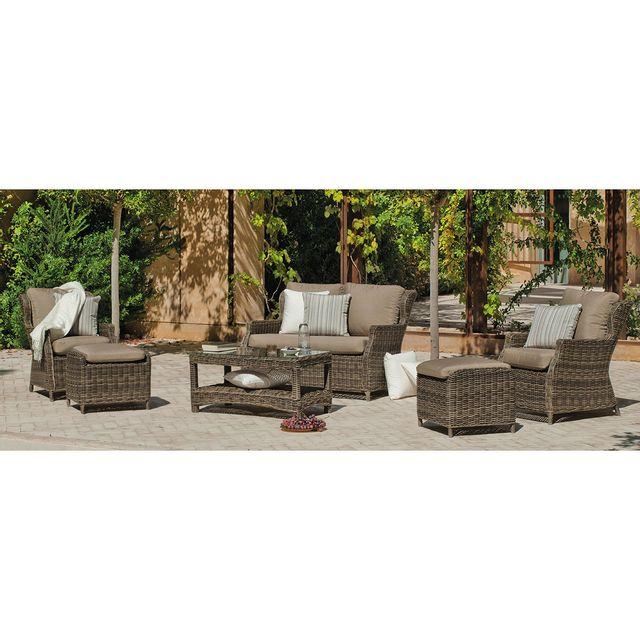 Hevea Jardin Ensemble table et chaises de jardin borsalino - 4 places
