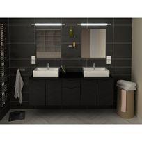 Meuble salle bain double vasque noir - catalogue 2019 ...