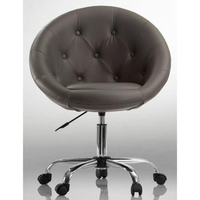 Siège Lounge Cuir 1109011 Fauteuil Chaise Pivotant Synthétique Noir k0O8wPn