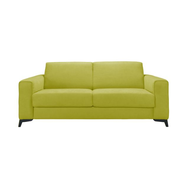 Mecazza Leeds Convertible 140X200 Mousse Densite 42KG + Visco Coloris Elisabeth Green Anti Tache