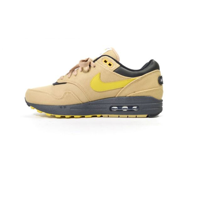 check out f0975 d521d Nike - Basket Air Max 1 Premium - Ref. 875844-700 Marron - pas cher Achat    Vente Baskets homme - RueDuCommerce