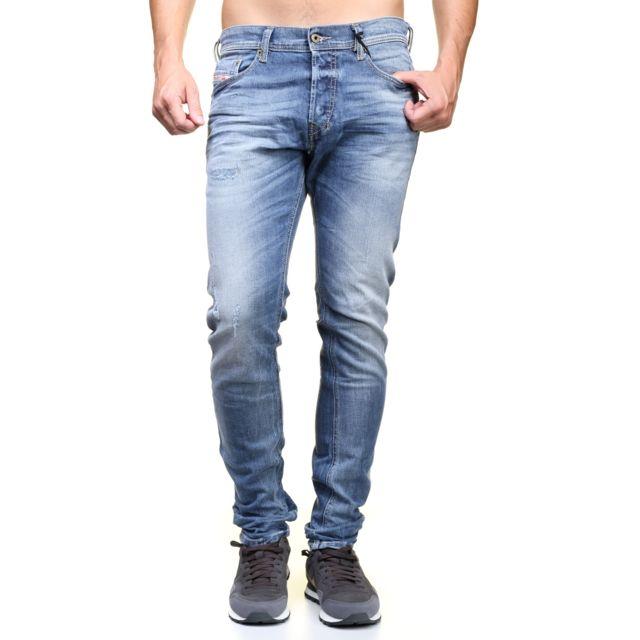 95b595c03b0ab Diesel - Jeans Tepphar 0853y Bleu - pas cher Achat / Vente Jeans homme -  RueDuCommerce