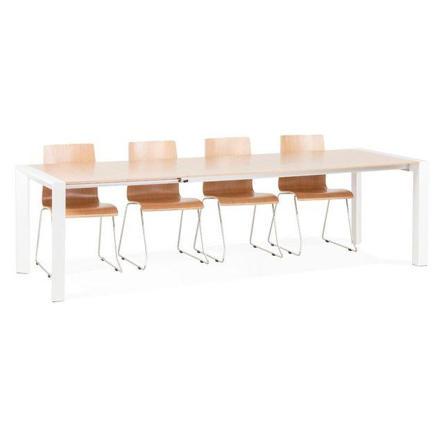 Alterego Table de salle à manger extensible 'NORDIK' en bois - 190 270, x95 cm