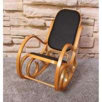 rocking chair cuir achat rocking chair cuir pas cher. Black Bedroom Furniture Sets. Home Design Ideas