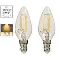 Xanlite - Pack de 2 flamme Led, culot E14, retro-LED4W 40W