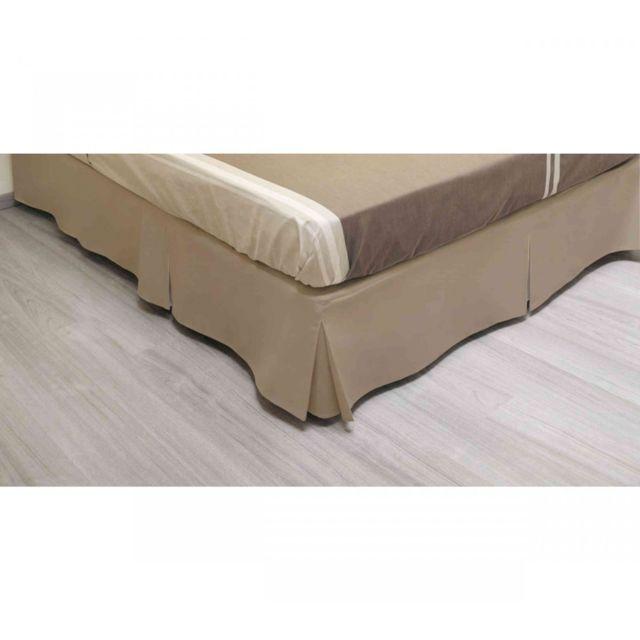terre de nuit cache sommier int gral microfibre beige. Black Bedroom Furniture Sets. Home Design Ideas