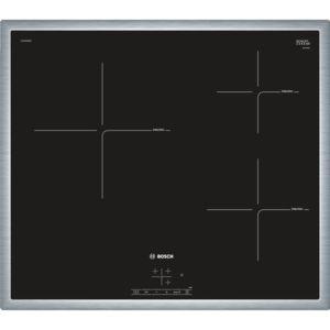 bosch table de cuisson induction 60cm 3 feux 4600w noir puc645bb1e achat plaque de cuisson. Black Bedroom Furniture Sets. Home Design Ideas