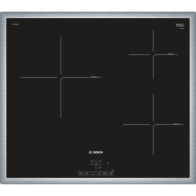 Bosch table de cuisson à induction 60cm 3 feux 4600w noir - puc645bb1e